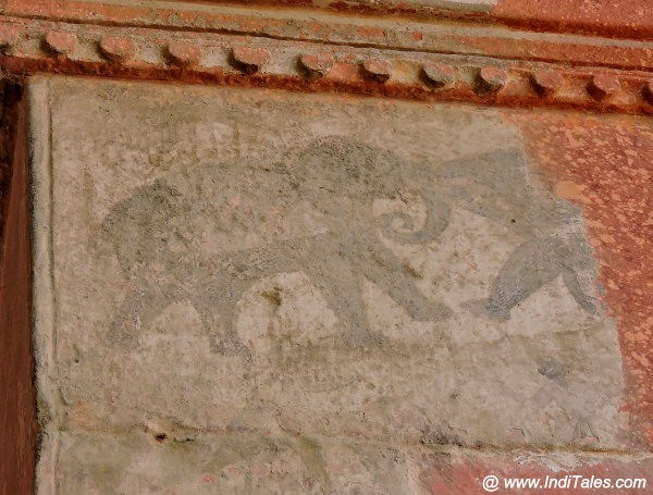 Elephant Murals at Fatehpur Sikri