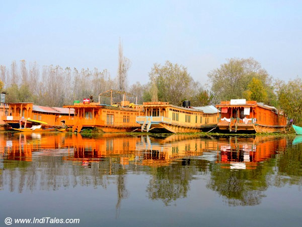 Houseboats in Srinagar - parked on Nagin Lake
