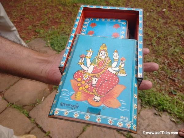 Painted wooden boxes at Sawantwadi Palace