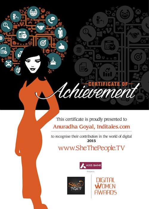 Digital women award Anuradha Goyal