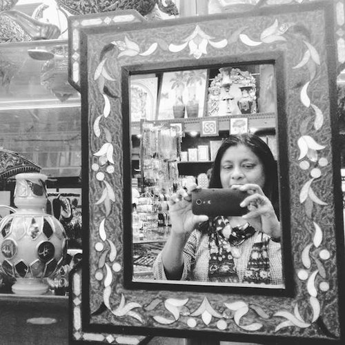 At a Curio Shop in Amman, Jordan - Looking back at 2015