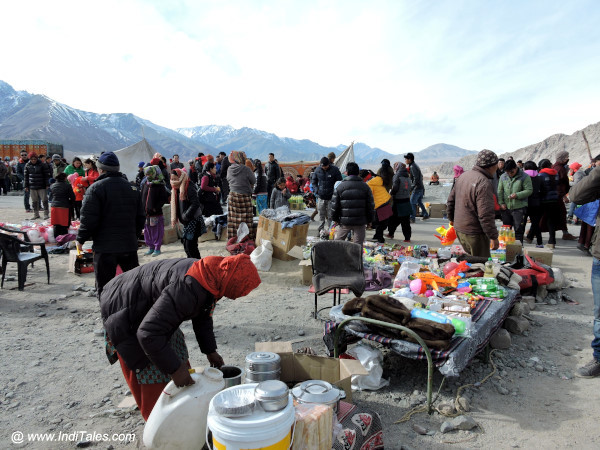 Bazaar outside the Spituk monastery, Ladakh