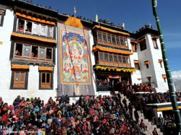Unveiling of Tangkha at Spitul Monastery, Ladakh