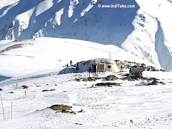 Army Camp on top of Apharwat Mountain