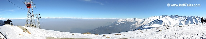 Panoramic View of Gulmarg Gondola from Apharwat Mountain