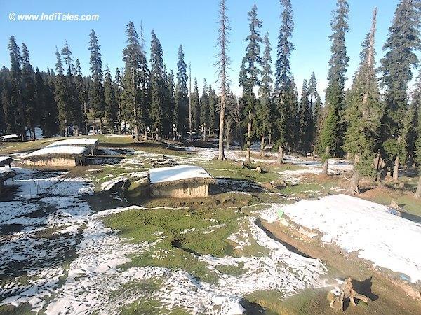 Snow-clad shepherd huts