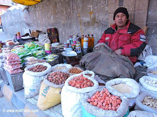 Dry Fruits in Leh Market