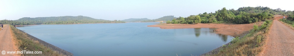 Panorama of Amthane Dam, Goa