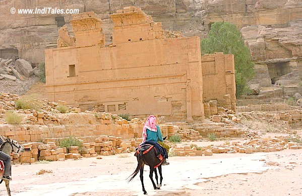 Temple of Dushara at Petra Jordan