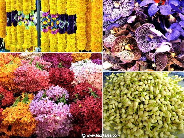 Vibrant flowers at Bangkok Flower Market - Pak Khalong Talat, Night Market in Bangkok