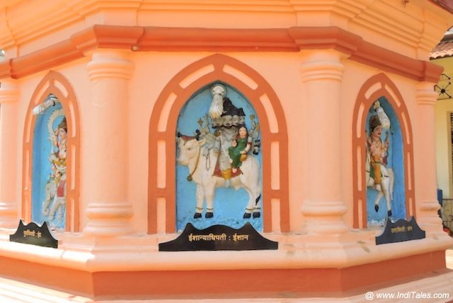 Deities of the directions at Nageshi temple, Goa