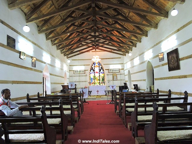 Interiors of St Mary's Church, Kotgarh
