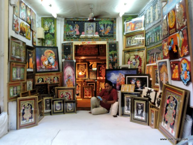 An art shop at Nathdwara