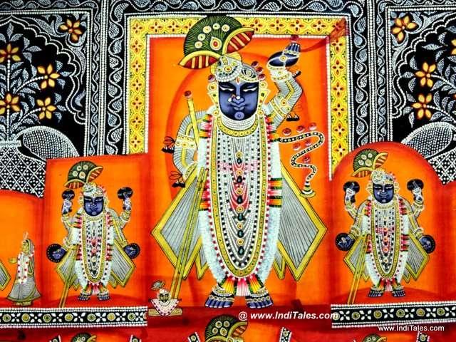 Shrinathji on a Pichhwai Painting