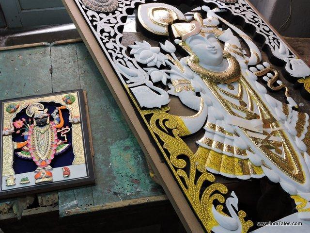 Wood Cut 3D Paintings of Shrinathji