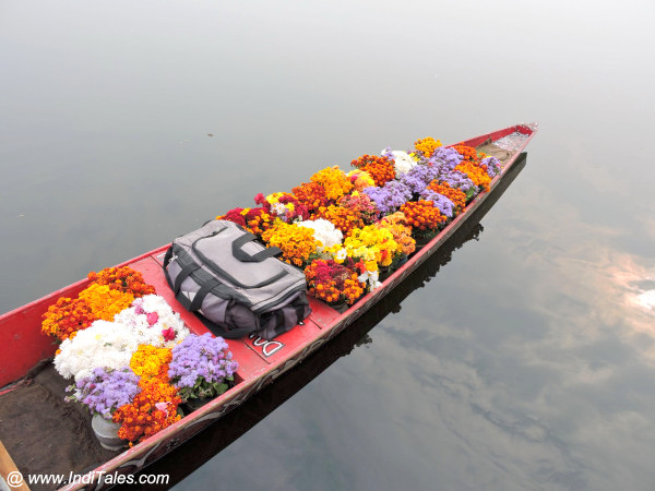 Shikara selling flowers early morning
