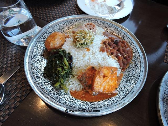 Vegetarian Wazwan , Gulmarg, Kashmir