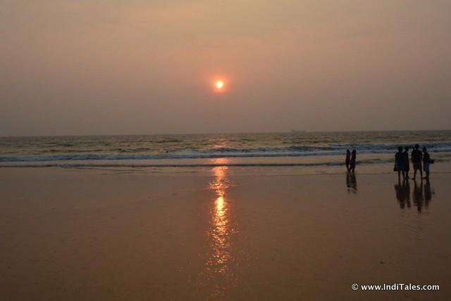 Sunset at Candolim Beach, Places to visit in Goa