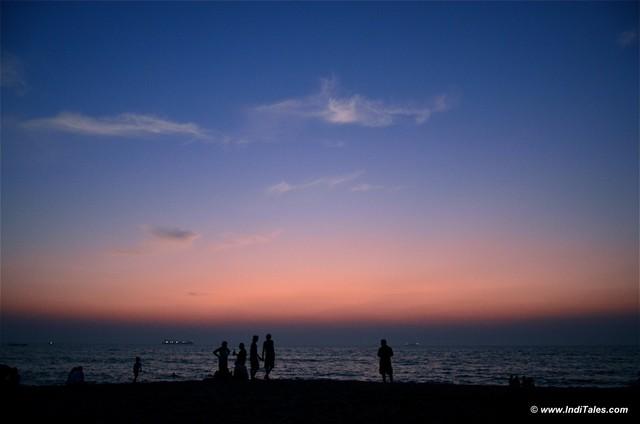 Dusk at Candolim Beach, Goa