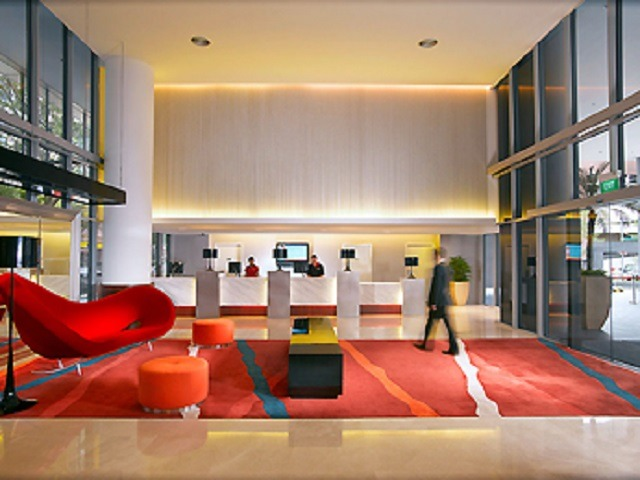 Lobby of Ibis Singapore on Bencoolen