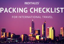International Travel Checklist - What to Pack by Inditales