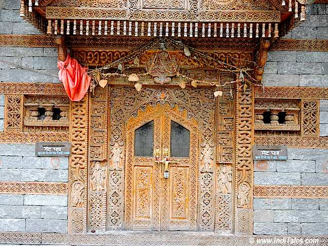 Door of Jagati Patt Temple at Naggar Castle