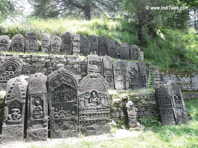 Memorial Stones of Kullu Rajahs, Naggar , Himachal Pradesh