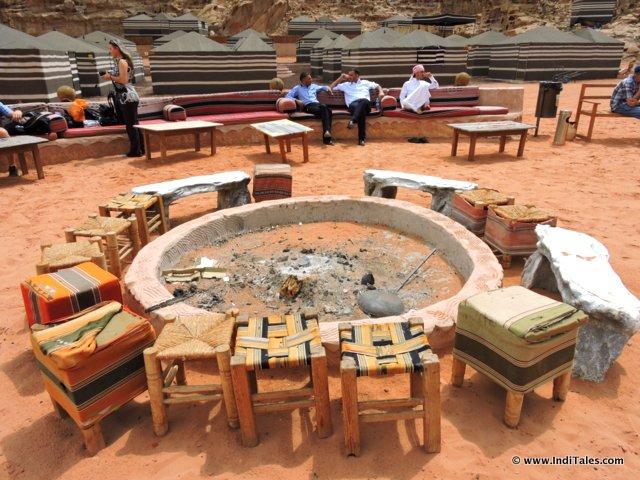 Bedouin campfire