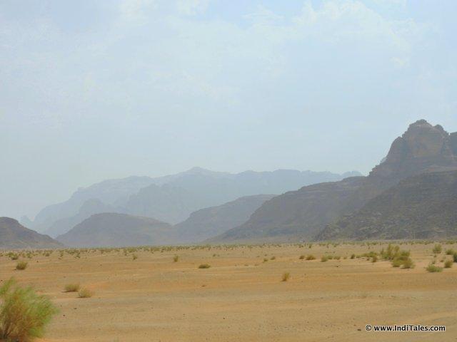 Martian landscape at Wadi Rum Jordan