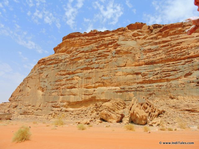 Rugged Rocks of Wadi Rum Jordan