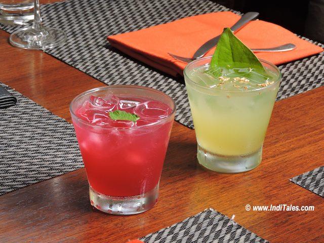 Fresh colorful drinks at Black Sheep Bistro, Panaji, Goa Restaurants