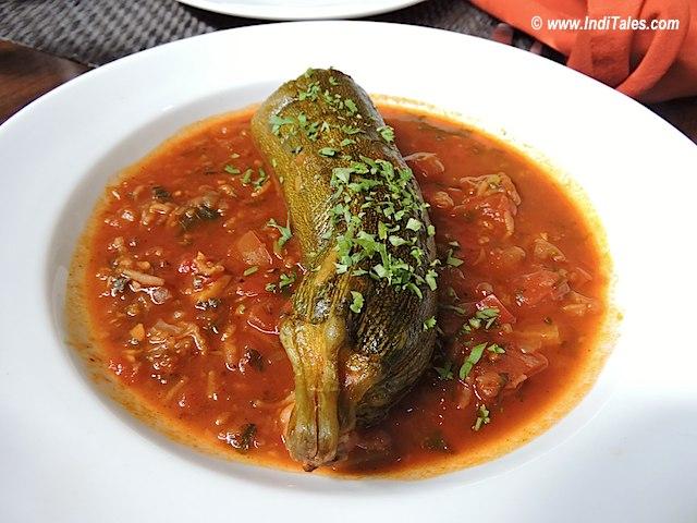 Stuffed Zucchini at Black Sheep Bistro, Panaji, Goa Restaurants