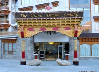 The Grand Dragon Hotel, Ladakh Entrance