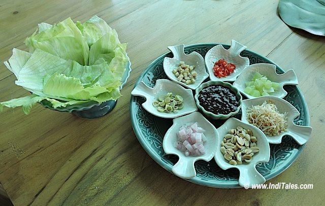 Salad at Lotus Blossom, Anjuna, Goa Restaurants
