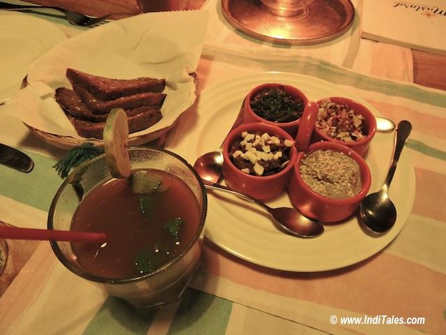 Tamarind Drink, starters at Mustard, Goa Restaurants