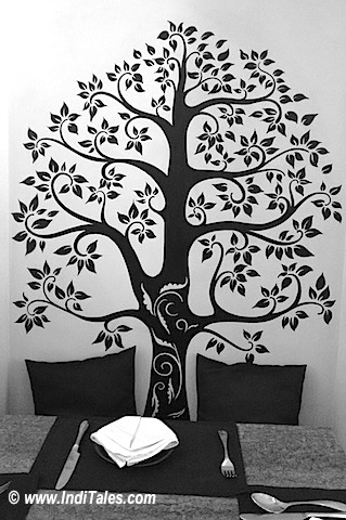 Tree of life by a local artist at Nero Barcode, Porvorim