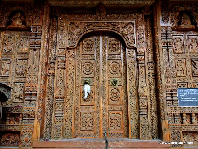 Door of Badri Vishal Temple, Basteri , Sangla Valley, Himachal Pradesh