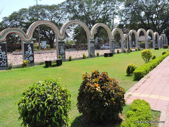 Manicured gardens at Vanganga Park or Dadra Park, Silvassa