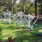 Gym equipment at Hirwa Garden, Nagar Haveli