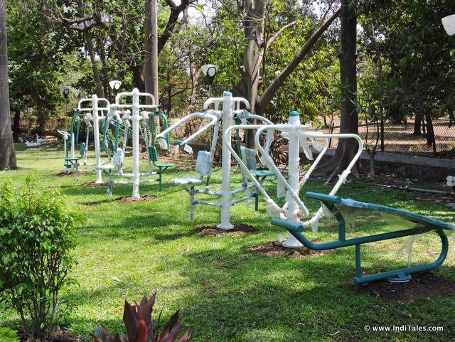 Gym equipment at Hirwa Garden, Nagar Haveli