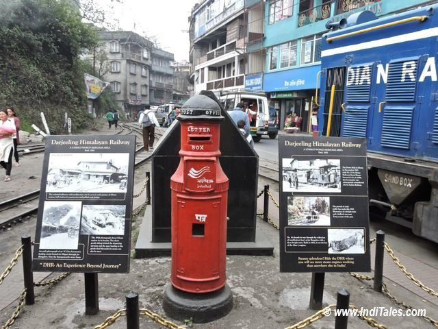 Post Box at Ghum Station