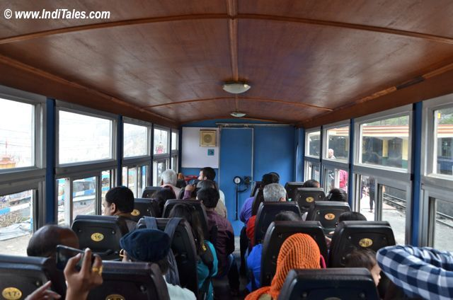 Inside the coach of Darjeeling Himalayan Railway