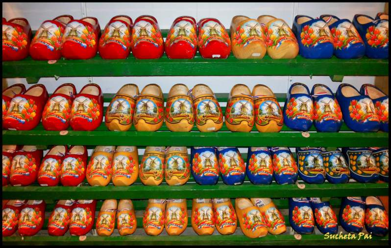 Painted Clogs at Amsterdam