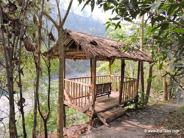 Outdoor Bamboo Gazebo at Baiguney