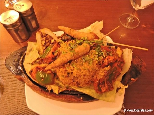 Vegetarian Sizzler at Baiguney