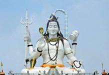 Towering statue of Lord Shiva at Chardham, Nmachi, Sikkim