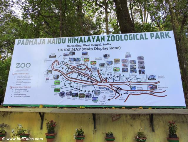 Map of Padmaja Naidu Himalayan Zoological Park, Darjeeling