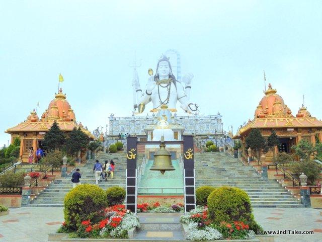 Lord Shiva statue landscape at Siddheshwar Dham, Namchi, Sikkim