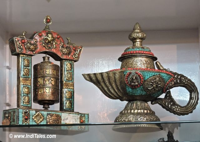 Embellished Prayer Wheel as Sikkim Souvenirs
