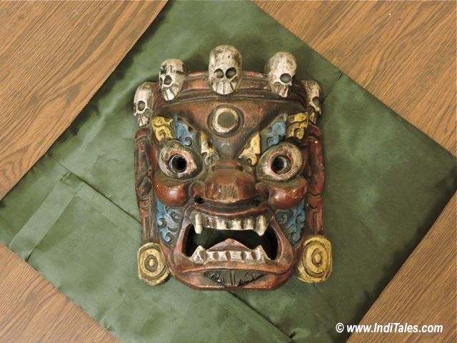 Wooden Mask as Sikkim Souvenirs
